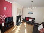 Nice bright lounge with large bay windows