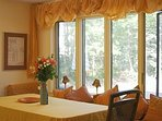 dining room, house has central air conditioning