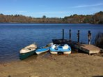 5 person canoe, 2 person kayak and 5 person paddle boat included with rental