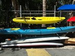 Free use of my yellow and blue Kayaks if you rent my condo