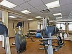 Fantastic full equipped gym available to guests