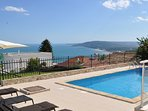 Your magnificent private pool, overlooking the bay and beach of Albena.