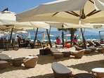 Beaches to every taste in the area. From very sophisticated with bar service and luxury seating