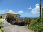 Piton vista Villa nestled on top of a hill with spectacular view of the Caribbean sea