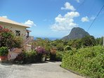 Spectacular view of the world famous Pitons from your villa.