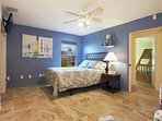 2nd bedroom offers privacy for another couple, or grown children with tv/cable, sitting area