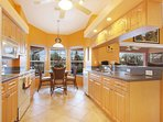 The cook does not miss out on any of the views or time with the family with open bar and flow