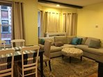 T-2 Living room and dining room combo