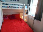 2nd bedroom, double bed with single bed over