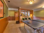 Ping pong room to enjoy with friends and family