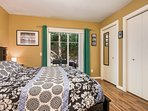 The 'Polo Grounds' bedroom has a king bed and direct access to the back deck with barbecue