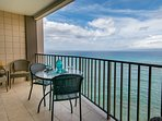 Spacious lanai is perfect for al fresco dining with marvelous views
