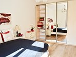 Practical built in spacious wardrobe in 2nd bedroom.