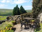 Private patio with amazing views overlooking Arkengarthdale