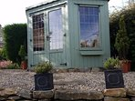 Guests are free to use Shirley's summerhouse