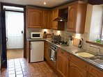 Fully fitted kitchen with dishwasher, washing machine. Heated tiled floor! Tea, coffee etc supplied