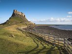 Lindisfarne Castle, Holy Island. End of St Cuthberts way