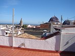 A view of the town and Mediterranean from the roof terrace