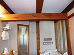 Large Douglas Fir beams throughout this beautiful oceanfront property