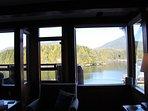 View through living room windows