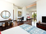 Sanur Residence - Villa 2 - Master bedroom with study & living area