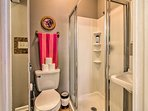Rise and shine with a rinse in the en-suite bathroom.