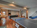 Play a game of ping pong during downtime!
