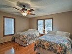 With 2 full-sized beds, this room accommodates 4.
