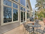 Relish views of the lake over a glass of wine on the private deck.