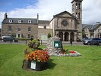 Forres towns award winning Britian in Bloom gardens.