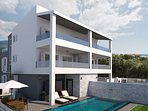 Villa Filip with heated private pool, 5 bedrooms with en-suite