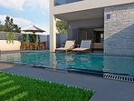 Pool area in front of living area