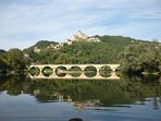 Castelnaud,taken from a boat trip a few yards downstream from the house.