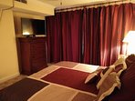Master had privacy drapes to ensure dark mornings for sleeping in late (if desired)