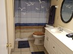 Master bath n walk-in, hairdryer, dual sinks, iron n iron board