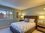 Second floor guest room with queen bed