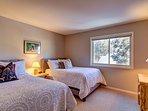 Second floor bedroom with two queen beds
