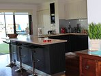 Kitchen very well equipped, for your home away from home
