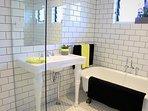 Family Bathroom with claw foot bath