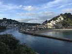 Looe is a great spot for the beach and exploring the galleries and eateries