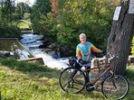Take a scenic ride to Buttermilk Falls.