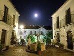 Beautiful moon over the plaza ....