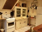 A full farmhouse style kitchen with everything you'll need. Coffee and teas are provided.