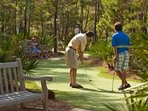 Free 18 hole putting green at Breathtaking at Watersound Beach.  Just bring your putter and balls!