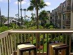 Ocean view tropical balcony
