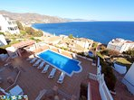 large pool terrace with BBQ