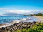 Kamaole Beach I is just steps from Royal Mauian.  No streets to cross.