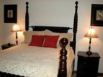 3rd bedroom with queen bed at our Larkspur Deer Valley home