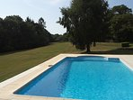 The shared pool, is in a secluded private suntrap situated in 4 acres of private land.