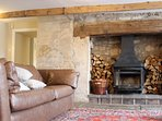 Main Reception Room - with woodburner